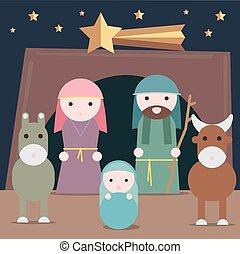 Nativity illustration - Nativity vector illustration