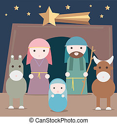 Nativity illustration
