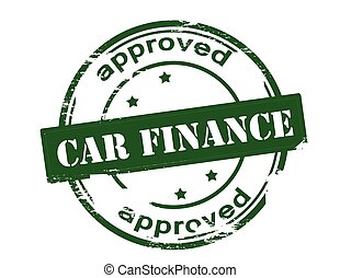 Car finance approved - Rubber stamp with text car finance...
