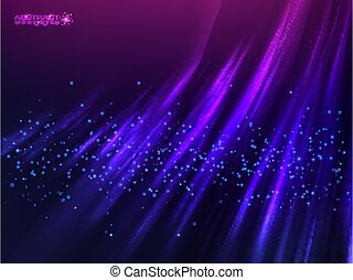 Violet aurora polar light vector abstract background