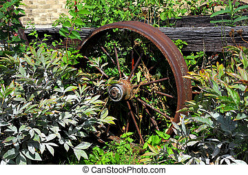 Steel Wheel - Parked and forgotten this steel wheel is part...