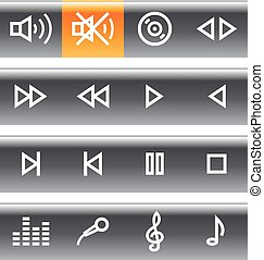 Vector music and sound icons set