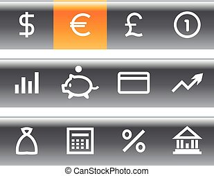 Vector money and finance icon set