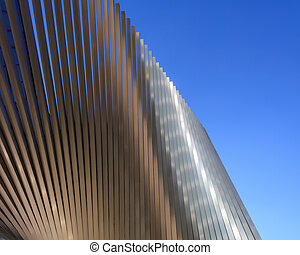 Abstract architectural background - Abstract metallic...