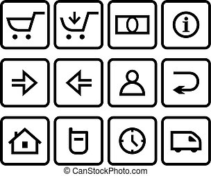 Vector web icons set - Vector ecommerce ebusiness web store...