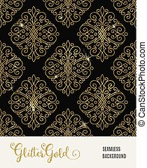 Glitter golden seamless pattern