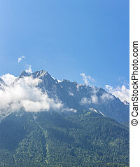 Zugspitze Alpine Alps mountain Landscape top of Germany