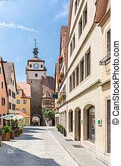 Rothenburg ob der Tauber, Franconia, Bavaria, Germany -...