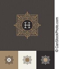 Glitter gold monograms - Vector design - glitter gold...