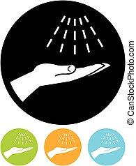 Vector wash hands icon