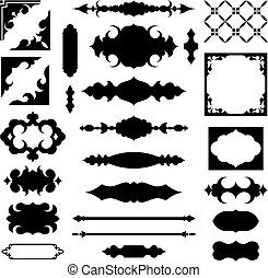 Antique frames shapes vector