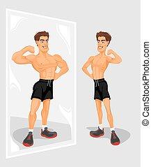 Vector illustration of a sportsman