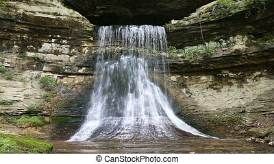 Cave Waterfall Loop - Loop features water emerging from...