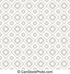 Geometry seamless pattern with circles and squares.