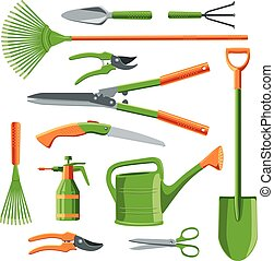 Essential gardening tools vector - Essential gardening tools...