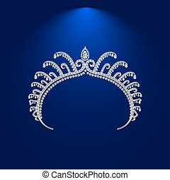 illustration crown diadem tiara