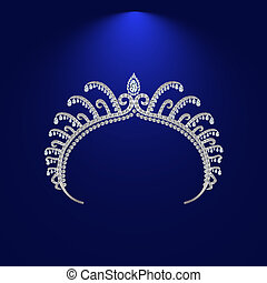 illustration crown diadem tiara - diadem corona feminine...