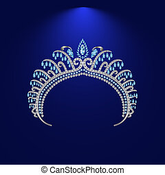 illustration crown diadem tiara 2 - diadem corona feminine...