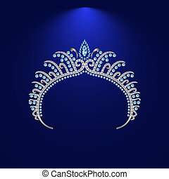 illustration crown diadem tiara 3 - diadem corona feminine...