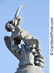 Fallen Angel - Fallen angel statue in retiro park. Madrid....