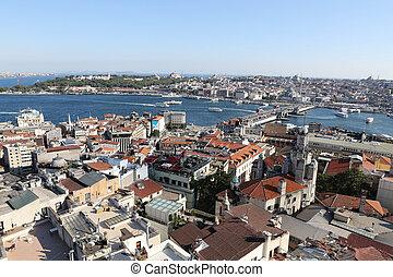 Karakoy and Eminonu District in Istanbul City, Turkey