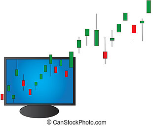 Day Trading - Conceptual bull market illustration