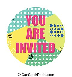 You are invited modern flyer Invitation card vector...