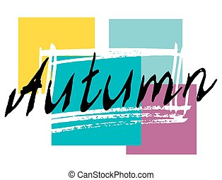 Autumn lettering background. Perfect Hand Drawn...
