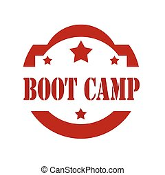 Boot Camp-stamp - Red stamp with text Boot Camp,vector...