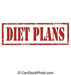 Diet Plans-stamp