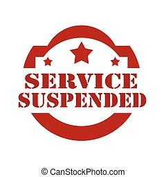 Service Suspended-stamp - Red stamp with text Service...