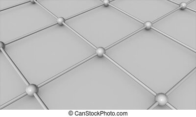Abstract 3d render Molecular floor. Technology background