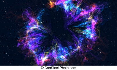 Approximation to the fantastic and colorful nebula....