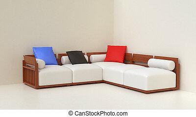 Living room corner set lounge