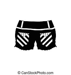 Womens shorts icon, simple style - Womens shorts icon in...