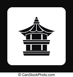 Temple icon, simple style - Temple icon in simple style...