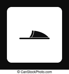 Slippers icon, simple style