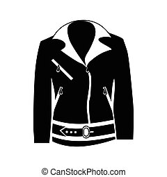 Womens jacket icon, simple style - Womens jacket icon in...