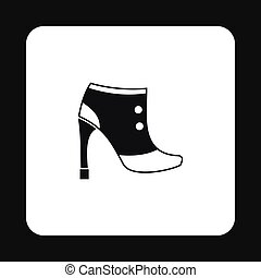 Womens boots icon, simple style - Womens boots icon in...