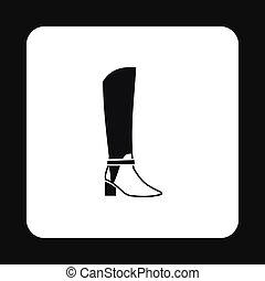Womens high boots icon, simple style - Womens high boots...