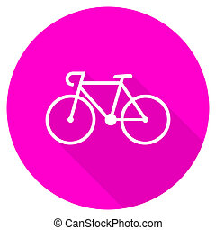 bicycle flat pink icon