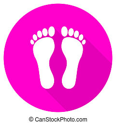 foot flat pink icon