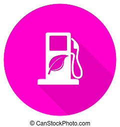 biofuel flat pink icon