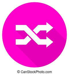 aleatory flat pink icon