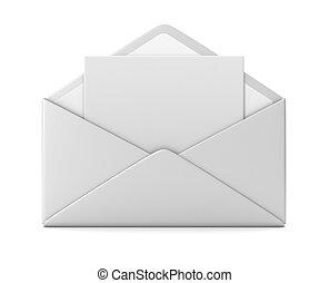 blank envelope concept  3d illustration