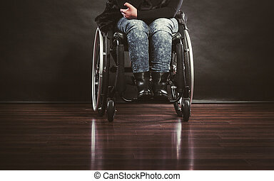 Legs of disabled person. - Disease disability paralysis...