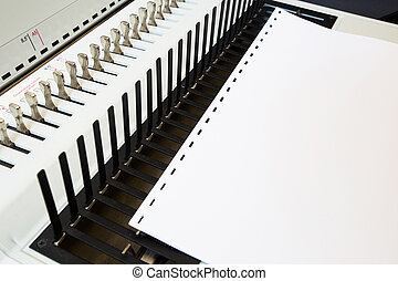 Office equipment bookbinding for paper and books.