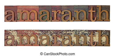 amaranth grain - amaranth word combined with grain, two...