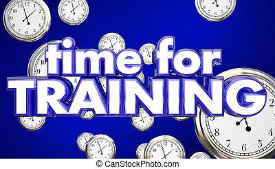 Time for Training Clocks Education Skills Learning 3d...