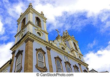 Church in Pelorinho, Salvador - Top Church facade of Our...